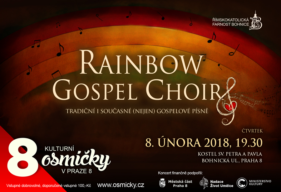 Koncert Rainbow Gospel Choir 8. 2. 2018